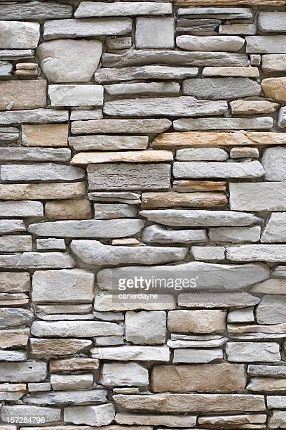 Vertical stacked stone walls