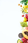 Clean eating or raw diet concept.