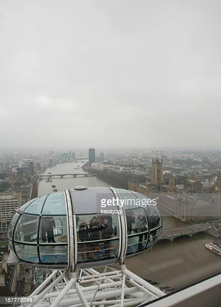 Vertical View from London Eye Capsule
