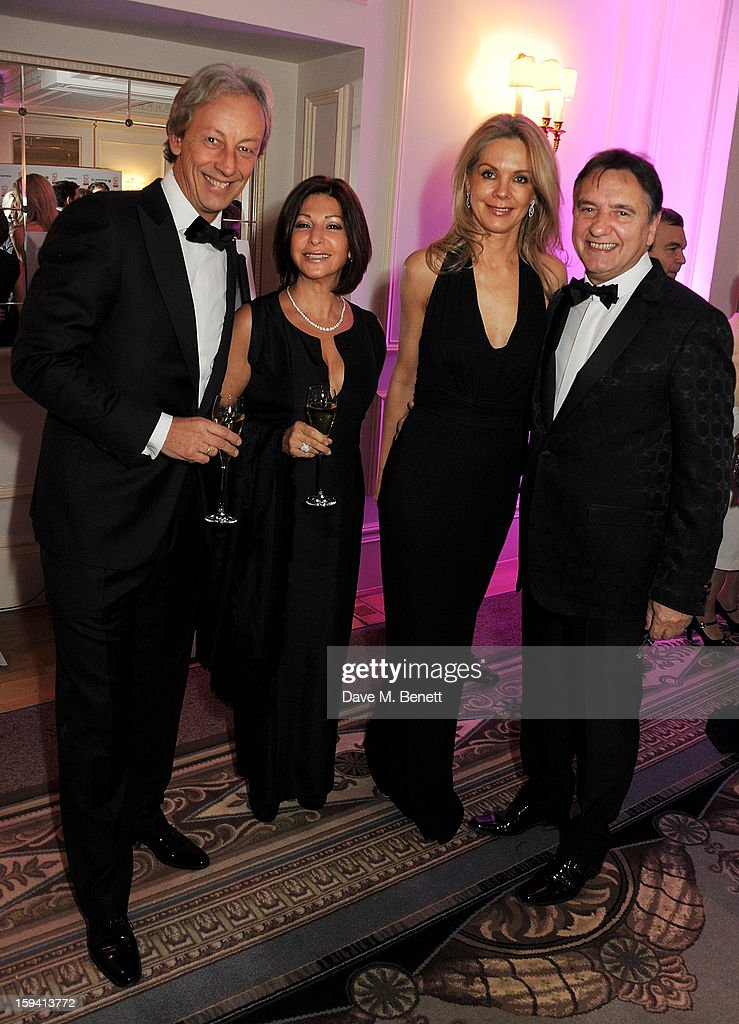 Vertu CEO Perry Oosting, wife Yelena Oosting, Natalia Traxel and chef Raymond Blanc attend a gala evening celebrating Old Russian New Year's Eve in aid of the Gift Of Life Foundation at The Savoy Hotel on January 13, 2013 in London, England.