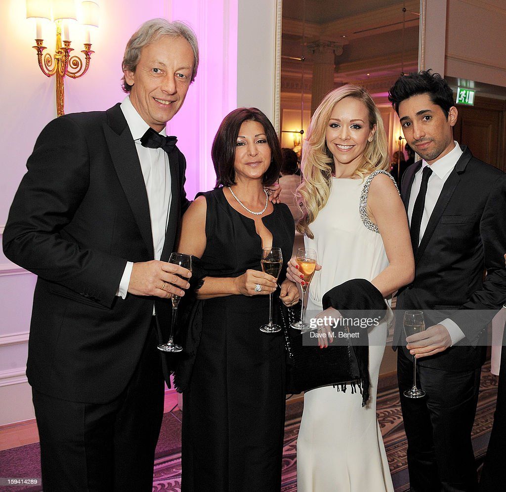 Vertu CEO Perry Oosting, wife Yelena Oosting, Tamara Ralph and Michael Russo attend a gala evening celebrating Old Russian New Year's Eve in aid of the Gift Of Life Foundation at The Savoy Hotel on January 13, 2013 in London, England.