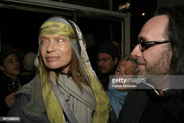 Verushka and Gilles Decamps attend Edie Sedgwick Unseen Photographs of a Warhol Superstar Opening Reception Hosted by Misha Sedgwick at Gallagher's...
