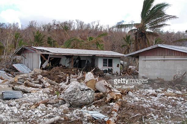Verwüstete Landschaft Alofi Insel Niue Südsee Haus Verwüstung Reise BB DIG PNr 167/2005