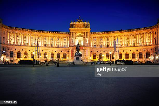 A very bright view of Hofburg in Vienna