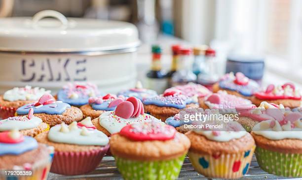 Very colourful cakes