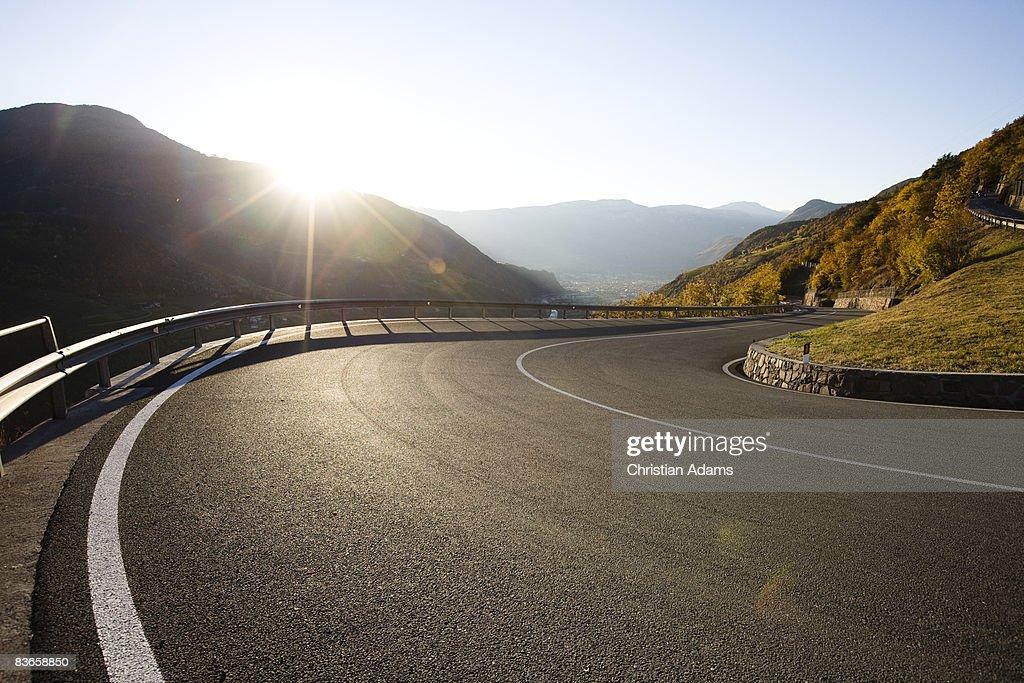 Very curvey road : Stock Photo