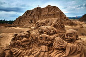 CONTENT] Very detailed sand sculptures from 40 international artists adorn Fulong Beach for the fourth annual international sand sculpture festival...