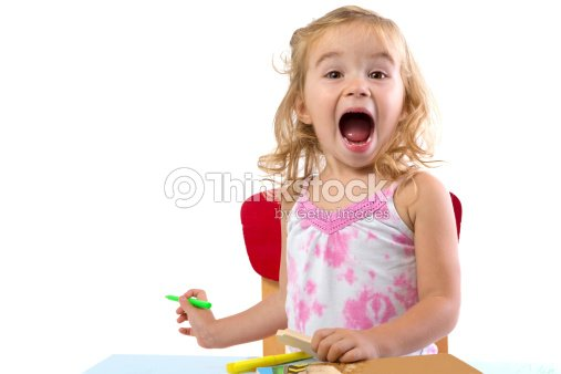 Very Excited Toddler Girl : Stock Photo