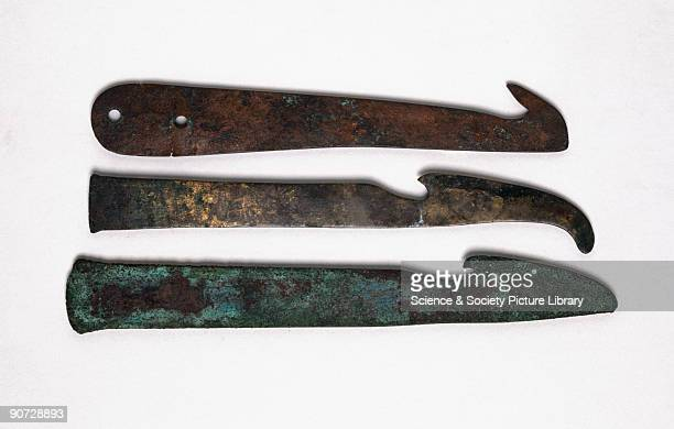 Very few surgical tools remain from ancient Egypt and Mesopotamia Knives like these may have been used to remove internal organs for mummification...