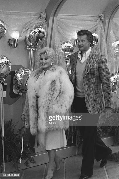 SUPERTRAIN 'A Very Formal Heist' Episode 6 Aired 4/14/79 Pictured Zsa Zsa Gabor as Audrey Lyle Waggoner as Peter Sebastian Photo by Ron Tom/NBCU...