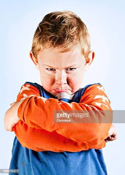 Muito Rezingão Pré-escolar Menino sobre a ter um Acesso de raiva!