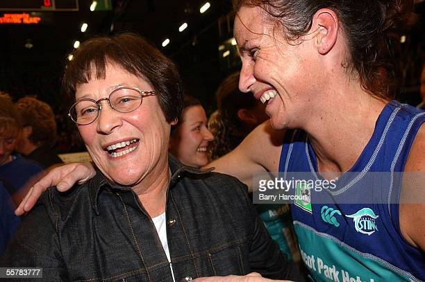 A very happy Robyn Broughton and Tania Dalton from the Sting after they won the final of the National Bank netball cup at Invercargill between The...