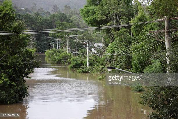 Very high flood water