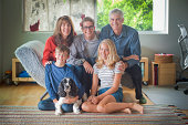 very informal family portrait