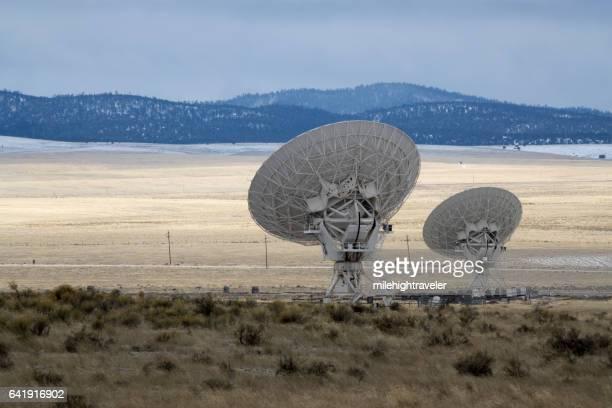 Very Large Array dish radio antenna snowy mountains New Mexico