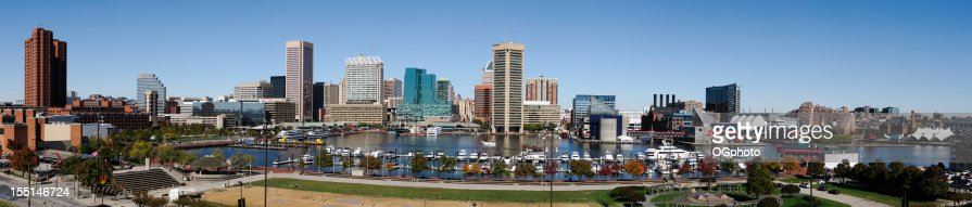 Very large panoramic of the Inner Harbor Baltimore, Maryland
