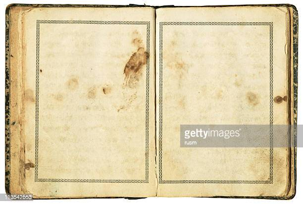 Very old book with clipping path on white background