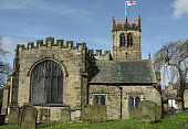A  very old church situated in the town of Barnard Castle, Teesdale, County Durham, England. .