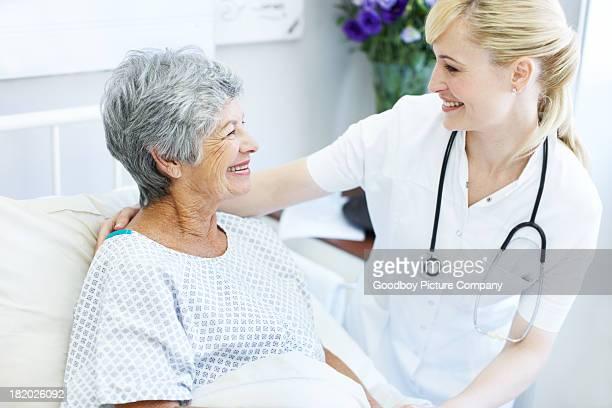 Sehr zufrieden mit Ihrer Behandlung und Pflege