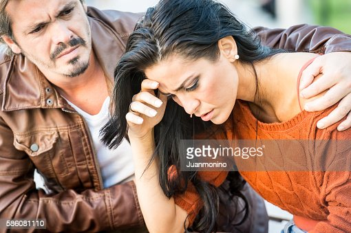 Very sad young couple : Stock Photo