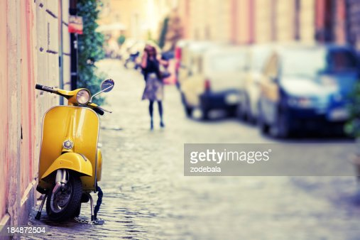 'Vespa Scooter in Rome, Italy'