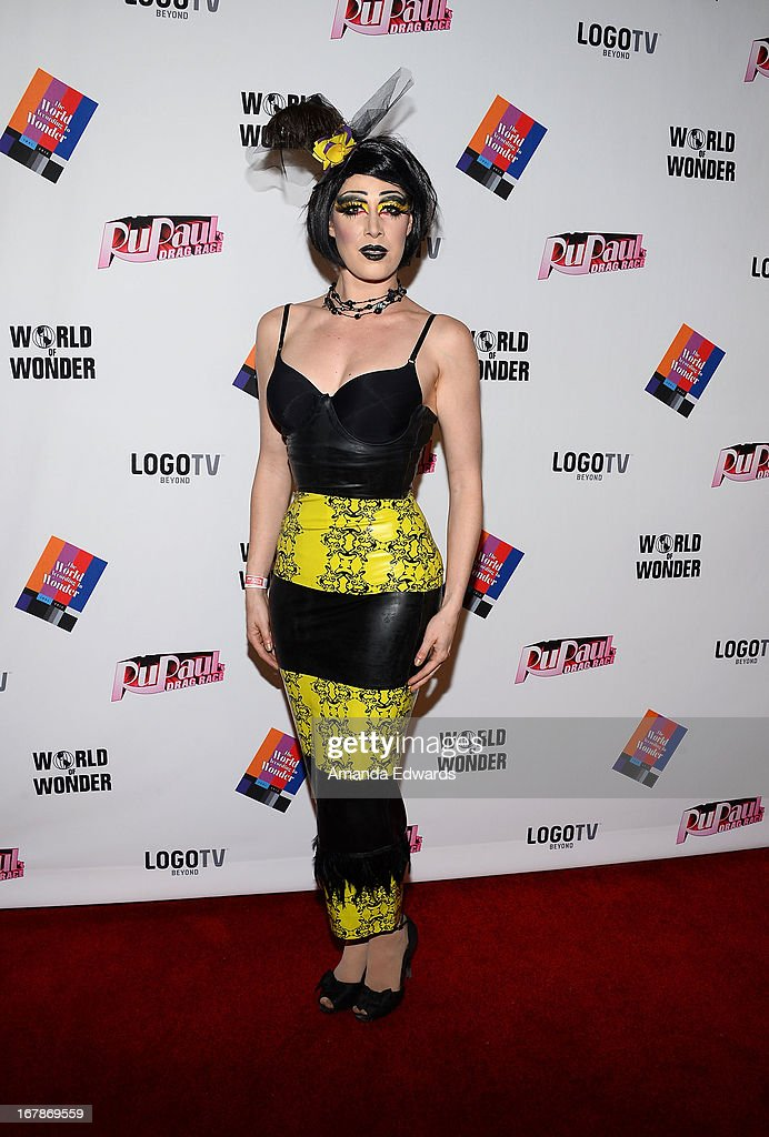 Vesper Synd arrives at 'Rupaul's Drag Race' Season 5 Finale, Reunion & Coronation Taping on May 1, 2013 in North Hollywood, California.
