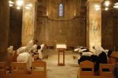 Vespers at Abu Gosh benedictine monastery