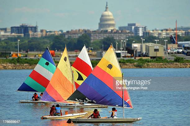 Vessels sail on the Potomac River as the US Capitol is seen from Alexandria VA on Thursday August 15 2013