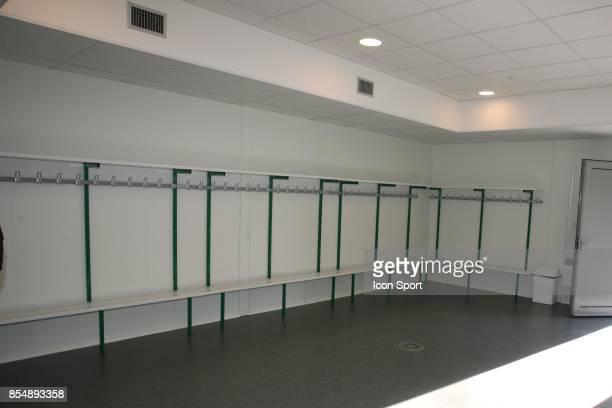 Vestiaire des joueurs Inauguration du Nouveau Centre d'entrainement du PSG Saint Germain en Laye Camp des Loges