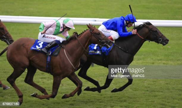 Vesuve ridden by frankie dettori beats Kings Gambit ridden by jamie Spence wins The williamhillcom Doonside Cup Stakes
