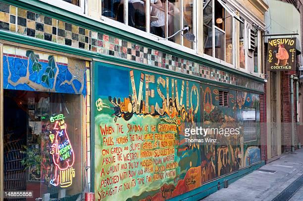 Vesuvio Bar in Jack Kerouac Alley, North Beach.