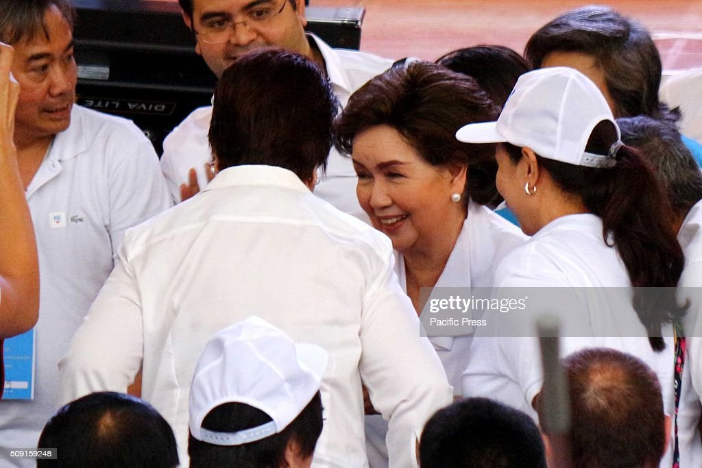 Veteran Actress Susan Roces giving support to her daughter Sen. Grace Poe running for Philippine President, where she gives the messages during the proclamation Rally of Galing at Puso Party in Plaza Miranda.