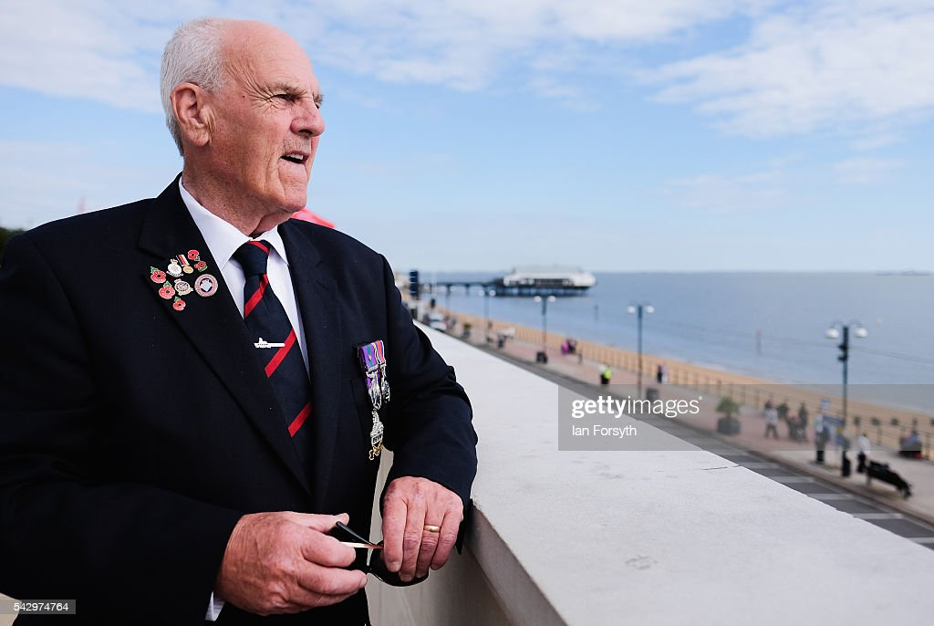 Veteran Anthony Bradwell, 79, from Cleethorpes looks out to sea as he attends the Armed Forces Day National Event on June 25, 2016 in Cleethorpes, England. The visit by the Prime Minister came the day after the country voted to leave the European Union. Armed Forces Day is an annual event that gives an opportunity for the country to show its support for the men and women in the British Armed Forces.