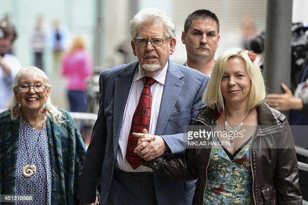 Veteran Australian artist and entertainer Rolf Harris his daughter Bindi and wife Alwen leave Southwark Crown Court in central London on June 27 2014...