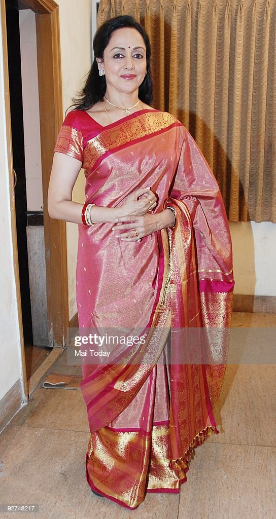 Veteran Bollywood actress <a gi-track='captionPersonalityLinkClicked' href=/galleries/search?phrase=Hema+Malini&family=editorial&specificpeople=1026787 ng-click='$event.stopPropagation()'>Hema Malini</a> at a dance event in Mumbai on Saturday, October 31, 2009.