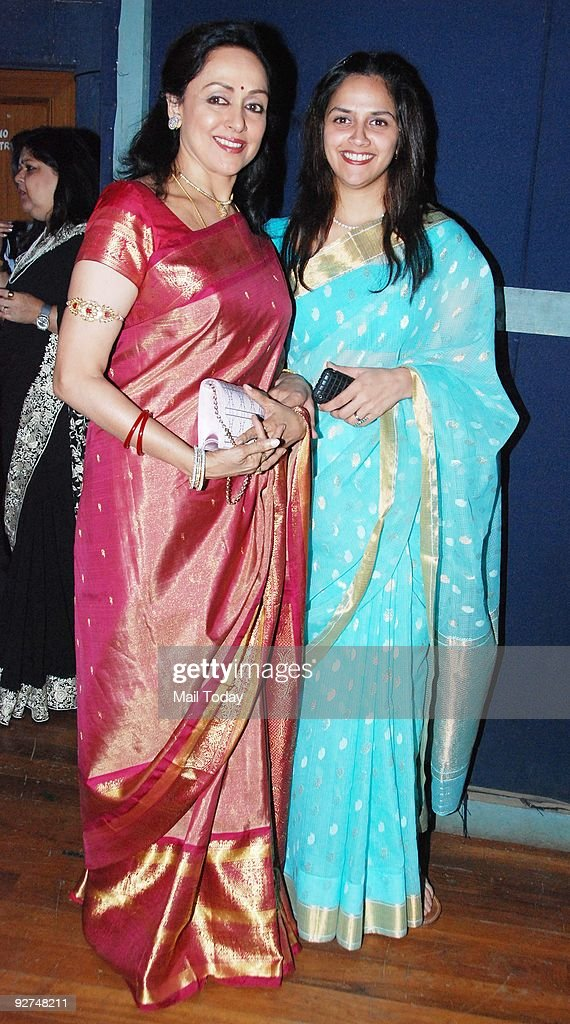 Veteran Bollywood actress <a gi-track='captionPersonalityLinkClicked' href=/galleries/search?phrase=Hema+Malini&family=editorial&specificpeople=1026787 ng-click='$event.stopPropagation()'>Hema Malini</a> poses with daughter Ahana at a dance event in Mumbai on Saturday, October 31, 2009.