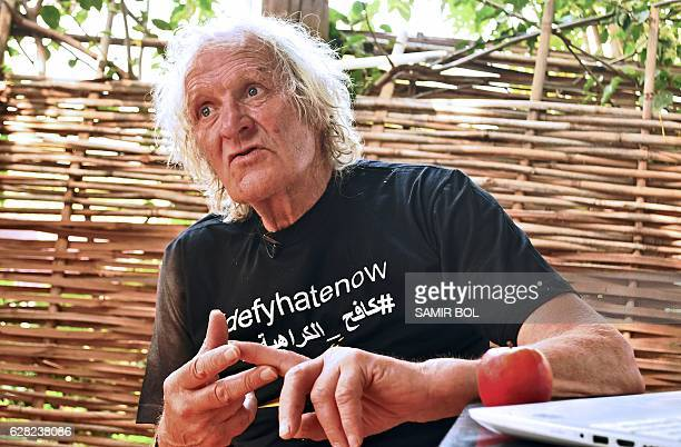 Veteran British pilot Maurice Kirk poses in Juba on December 6 2016 Kirk was taking part in a rally flying vintage planes across Africa when he...