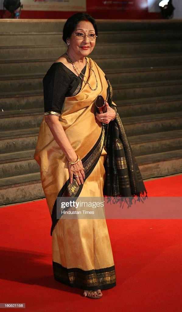 Veteran Indian actor Mala Sinha during premier of Bollywood movie Mai at Cinemax on January 31, 2013 in Mumbai, India.