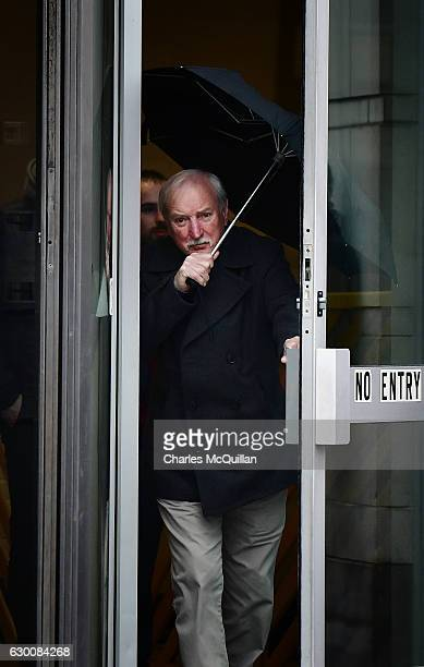 Veteran Irish republican Ivor Bell leaves Laganside Courts following a pretrial hearing on December 16 2016 in Belfast Northern Ireland Bell is...
