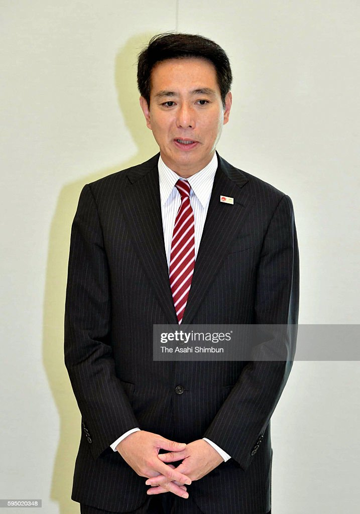 Veteran lawmaker Seiji Maehara speaks during a meeting to announce his run for candidacy at the opposition Democratic Party presidential election on...