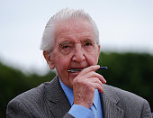 Veteran MP and former miner Dennis Skinner makes finishing touches to his speech during the 132nd Durham Miners Gala on July 9 2016 in Durham England...