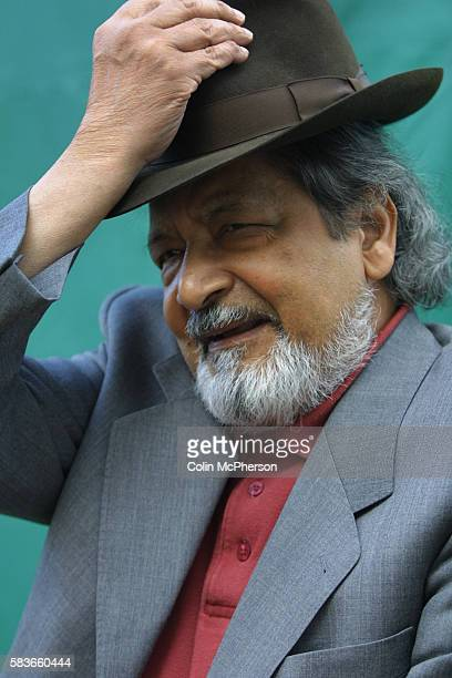 Veteran Trinidadian author and Nobel prizewinning novelist V S Naipaul pictured at the the Edinburgh International Book Festival where he gave a...