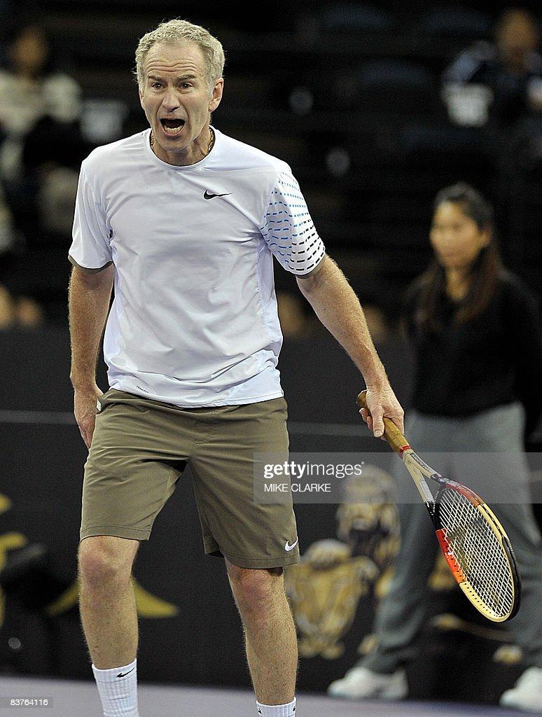 Veteran US tennis player John McEnroe ob