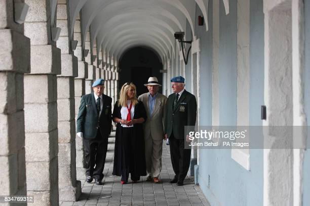 UN Veteran Vincent Savino Geraldine Brannigan Phil Coulter and Commandant George Kirwan UN veterans at the Irish UN Veterans Association where they...