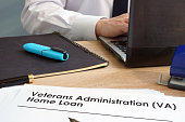 Veterans Administration (VA) Home Loan application form.