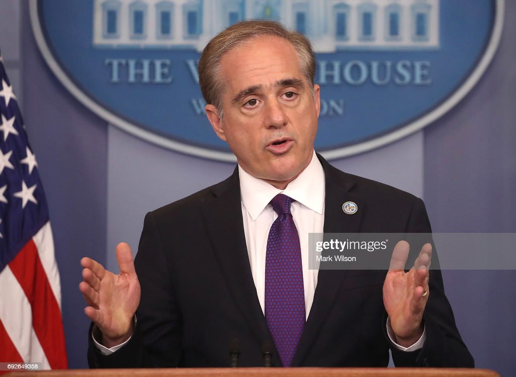 Veterans Affairs Secretary David Shulkin talks about plans to revamp the department's information technology system during a press briefing at the White House, on June 5, 2017 in Washington, DC. Shulkin said the VA will adopt a commercial IT program used by the Pentagon.
