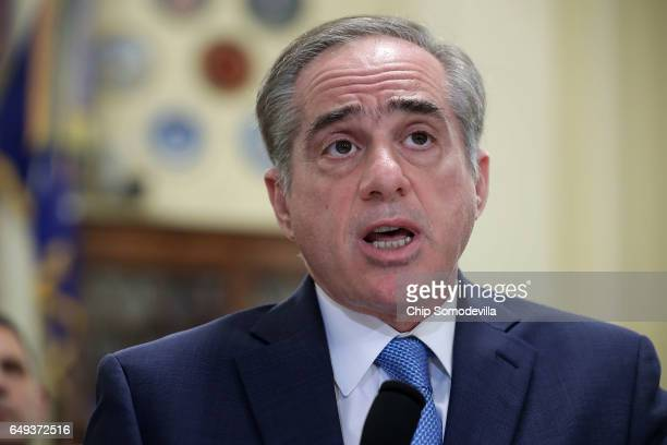 Veterans Affairs Secretary David Shulkin testifies before the House Veterans Affairs Committee about ongoing reforms at the VA in the Cannon House...