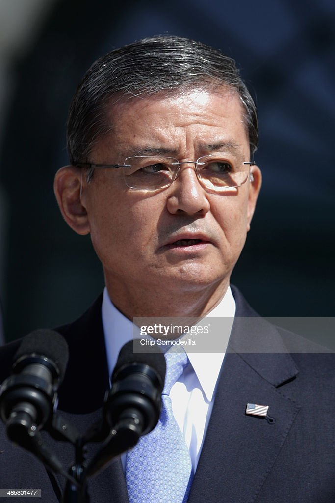 S Veterans Affairs Secretary Eric Shinseki delivers remarks during the kickoff of the seventh annual Wounded Warrior Project's Soldier Ride on the...