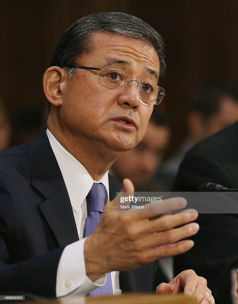 S Veterans Affairs Secretary Eric Shinseki testifies during a Senate Veterans' Affairs Committee hearing that is focusing on wait times veterans face...