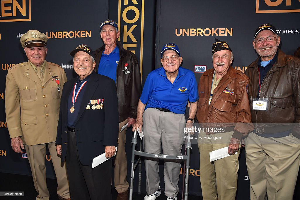 Veterans attend the premiere of Universal Studios' 'Unbroken' at TCL Chinese Theatre on December 15 2014 in Hollywood California